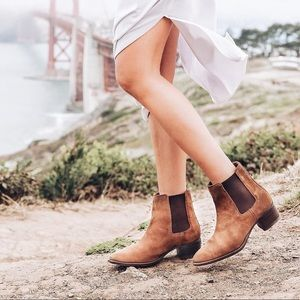 Frye Dara Genuine Oiled Suede Chelsea Ankle Boots